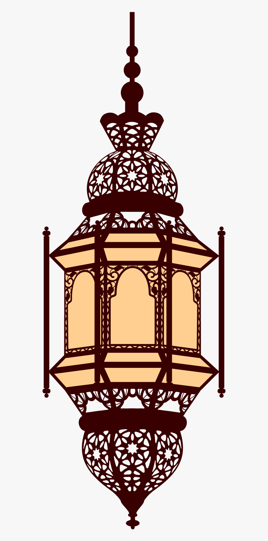 Download Islamic Arabic Lamp Ramadan Lantern Free Clipart.