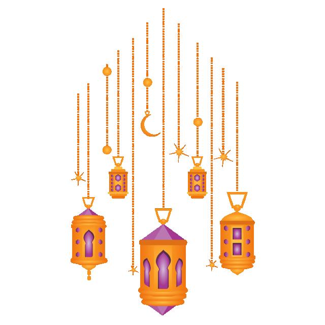 Islamic Ramdan Lantern Lamp Eid Al Adha, Ramadan Kareem.