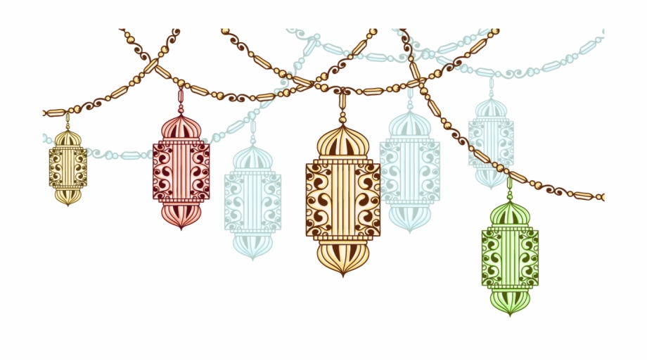 Exotic Fasting Chandeliers Ramadan Vector In Drawing.