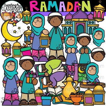 Ramadan Clipart {Holidays Around the World Clipart}.