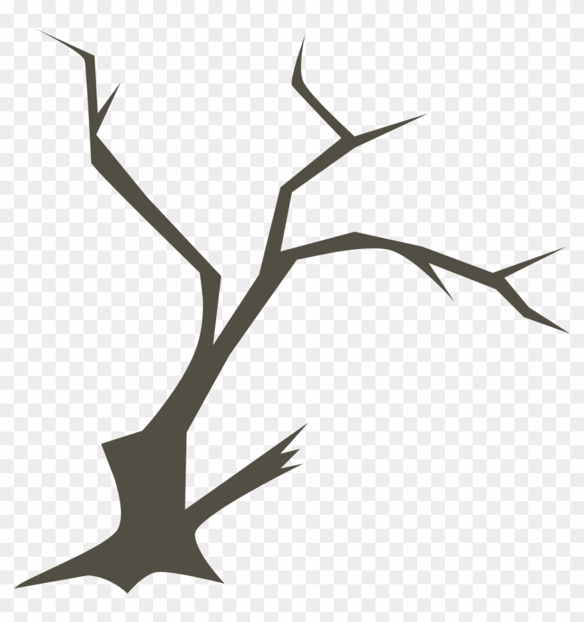 Drawing Of Spooky Tree Without Foliage.