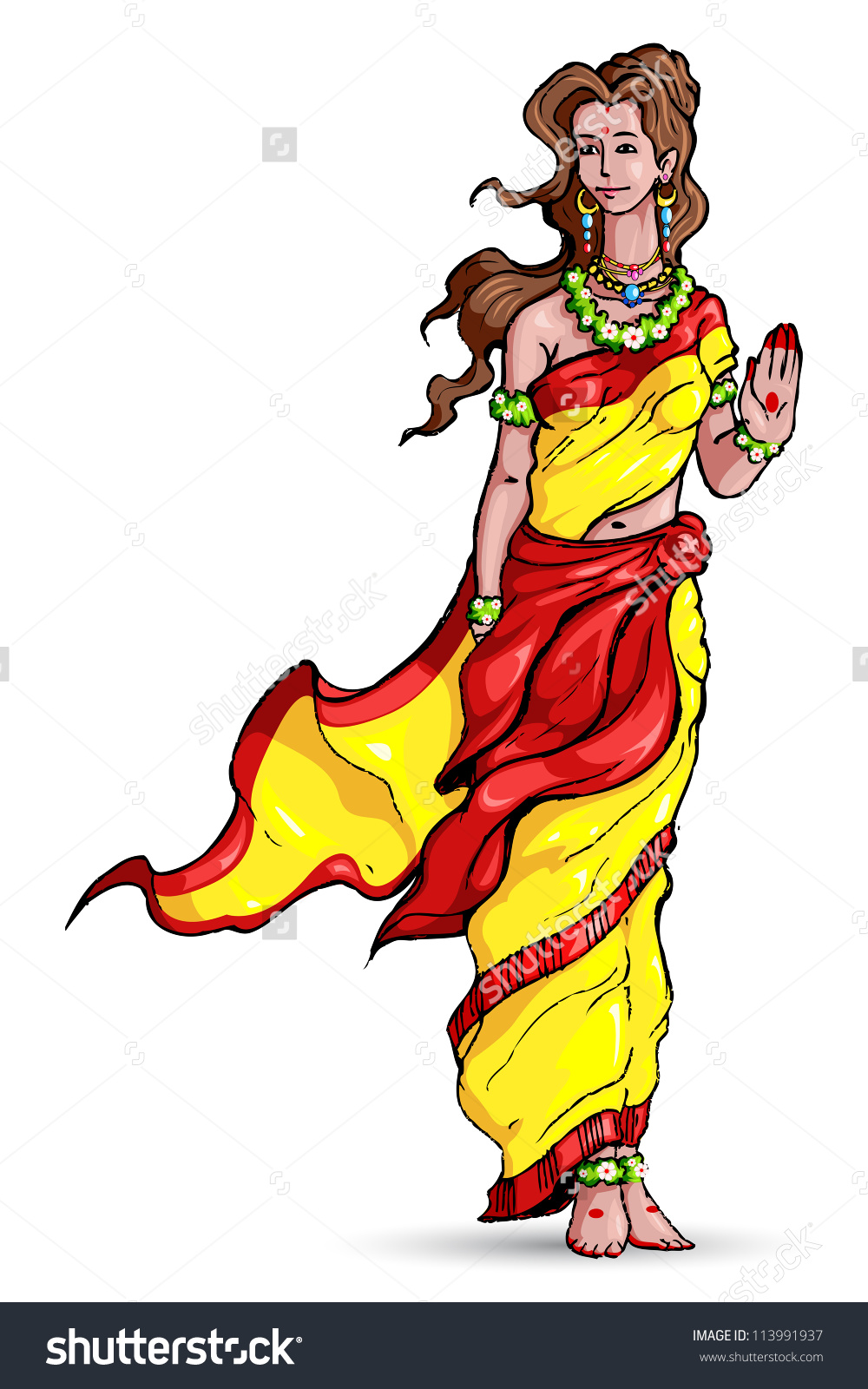 Vector Illustration Goddess Sita Ramayana Stock Vector 113991937.