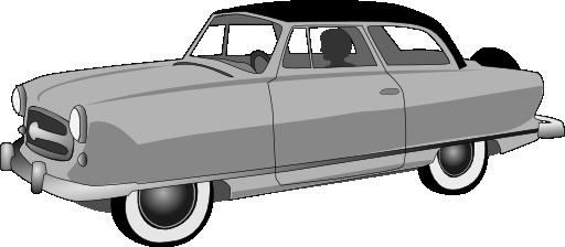 1950s Rambler Convertible Clipart.