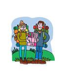 Stock Illustration of Friends Hiking paterj0072s.