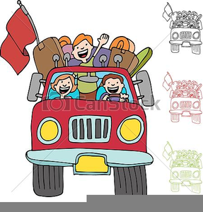 Family Road Trip Clipart.