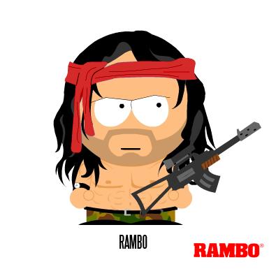 South Park: Rambo by MrAngryDog.