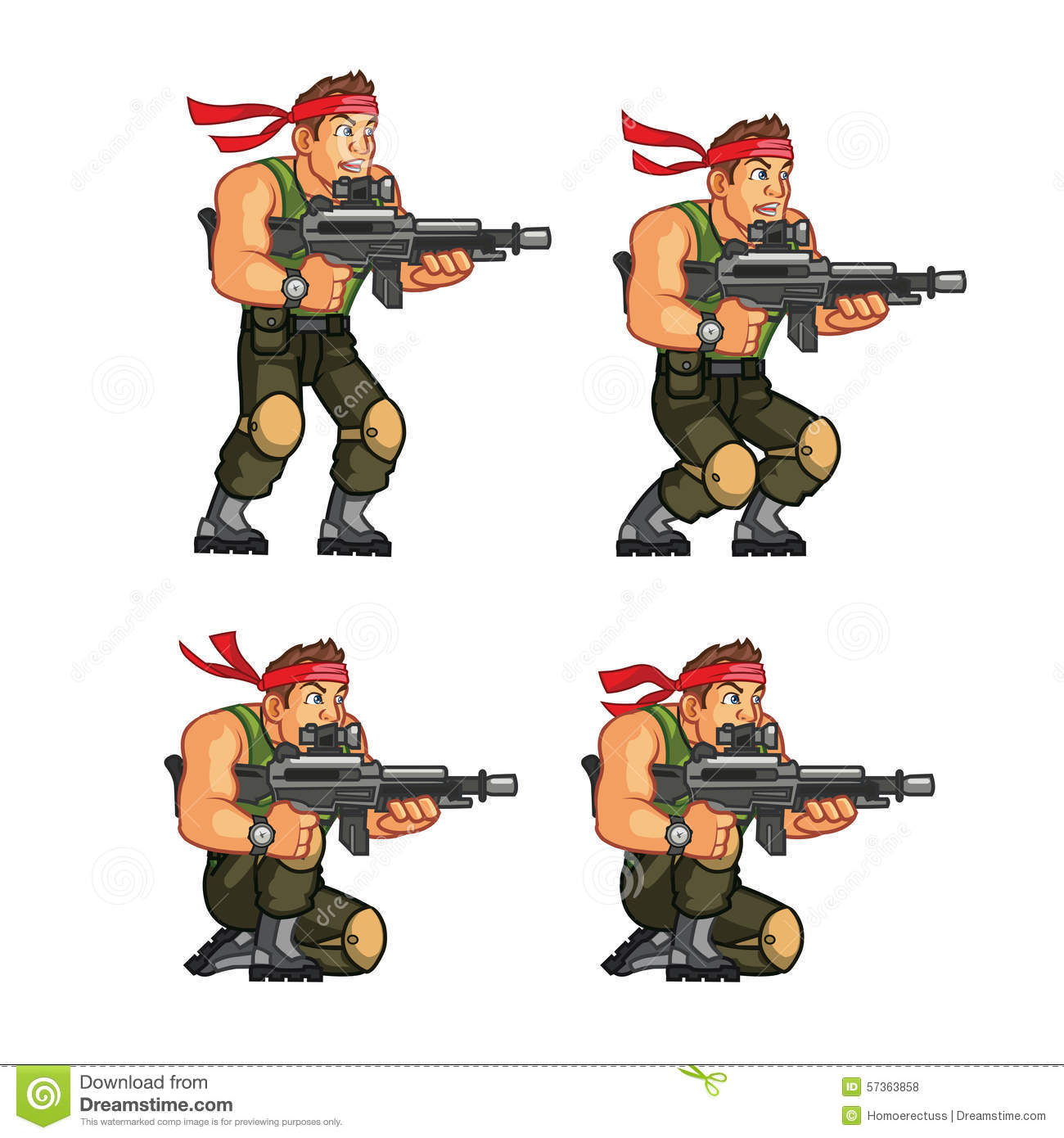 Rambo Stock Illustrations.