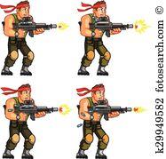Rambo Clipart and Illustration. 18 rambo clip art vector EPS.