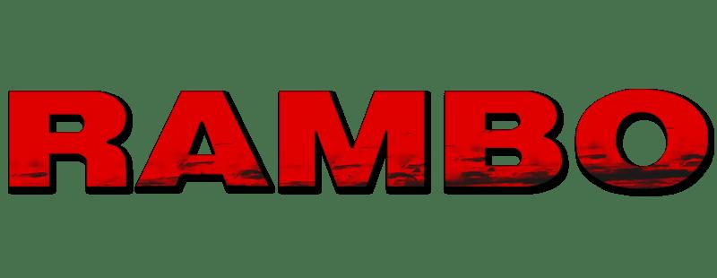 Rambo Movie Logo transparent PNG.