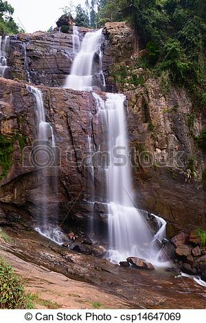 Stock Image of Waterfall.