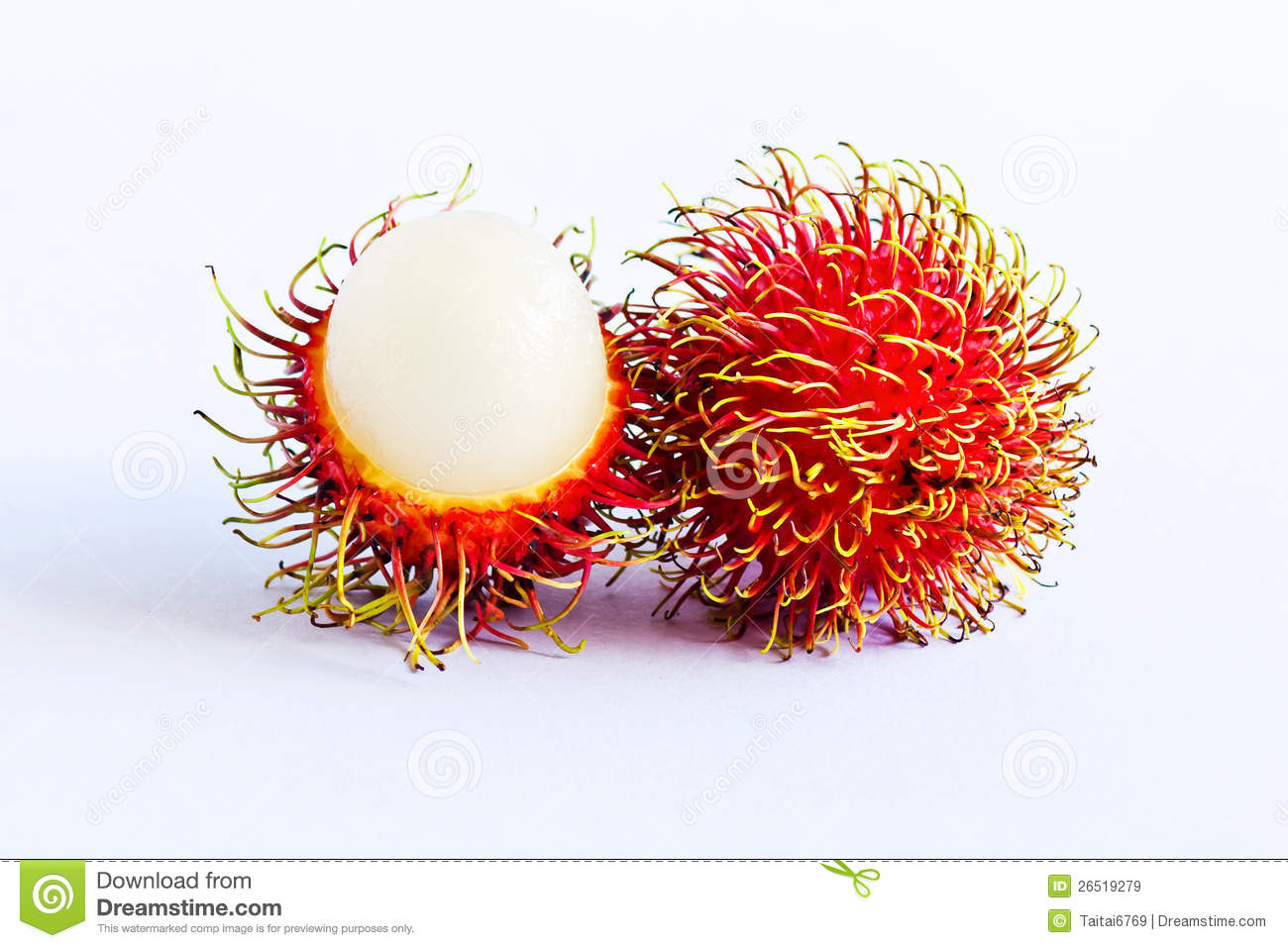 The Rambutan From Thailand Royalty Free Stock Images.