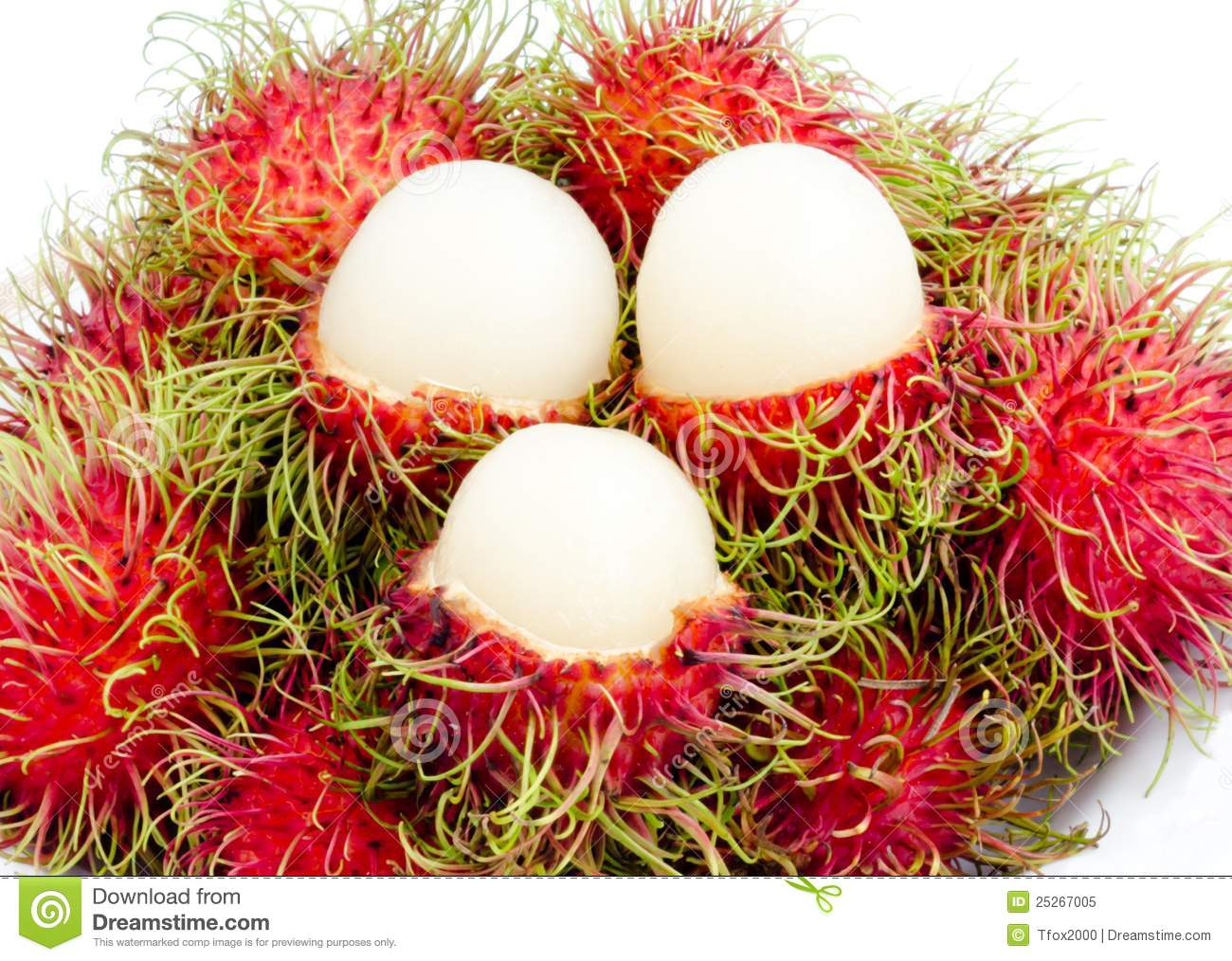Fruit Thai Rambutan Royalty Free Stock Photo.