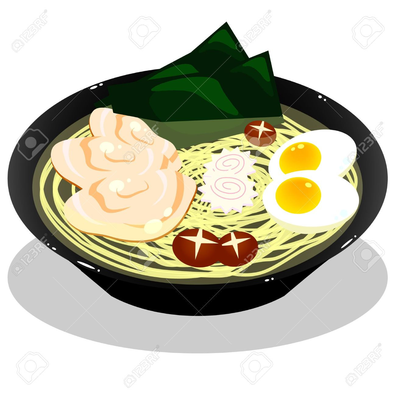 Ramen In White Background Royalty Free Cliparts, Vectors, And.