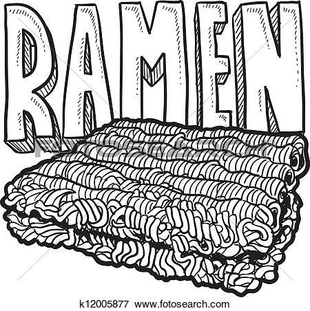 Top ramen Clipart Illustrations. 6 top ramen clip art vector EPS.