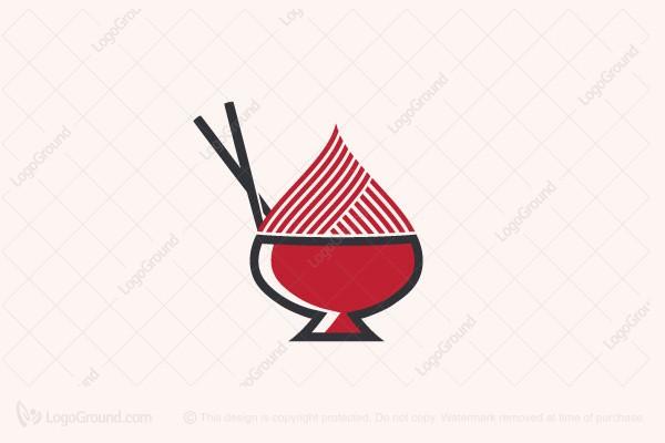Exclusive Logo 171955, Spade Ramen Logo.