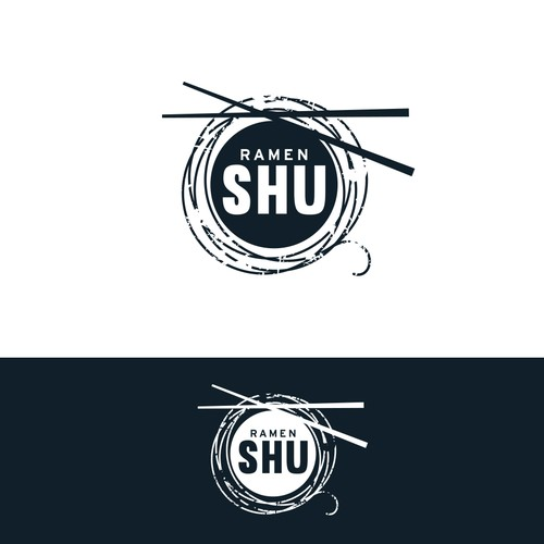 Design a hipster logo for ramen shop.