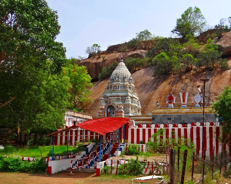 Free photo: Ramgiri Hills, Temple.