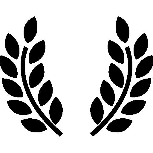 Símbolo ramos de oliveira prêmio.