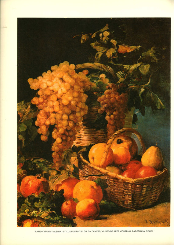 Bright Fruit Still Life Print from Modern Art by MyVeryOwnMuseum.