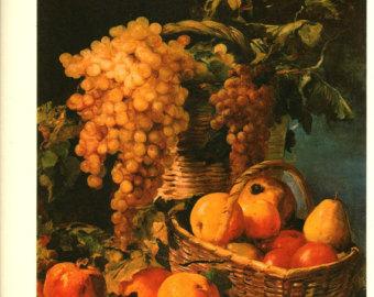 Vintage fruit still life.