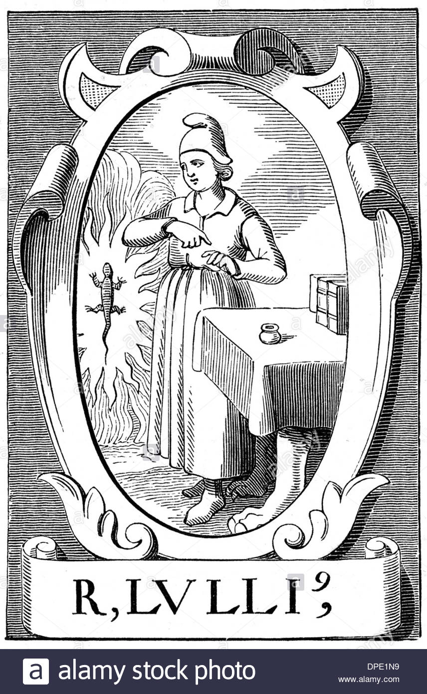 Ramon Llull, Alchemist Stock Photo, Royalty Free Image: 65462245.