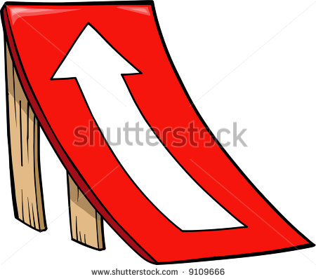 Skateboard ramp clipart.