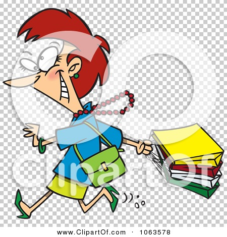Clipart Caucasian Woman On A Rampage Shopping Spree.