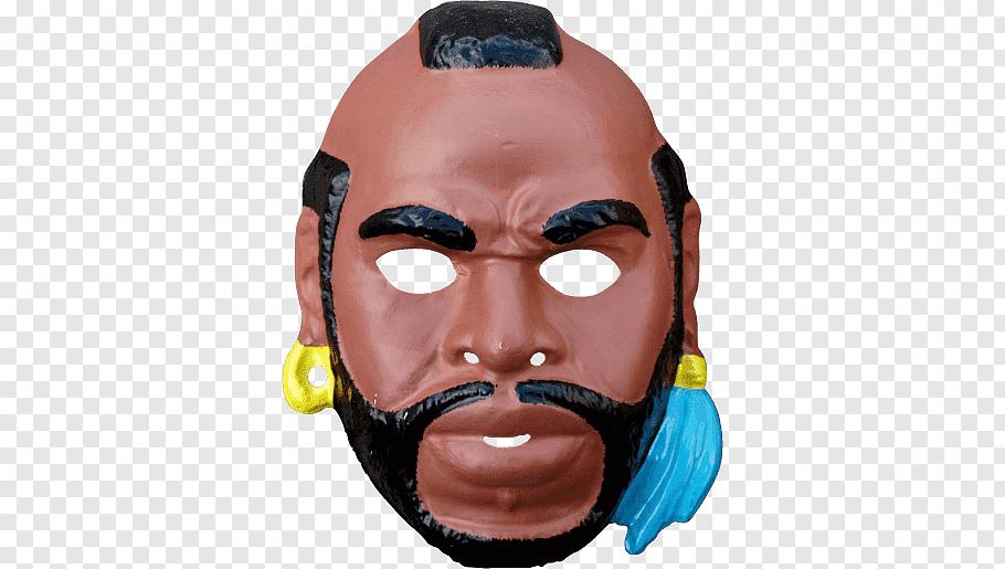Rampage Jackson mask illustration, Mister T Mask free png.