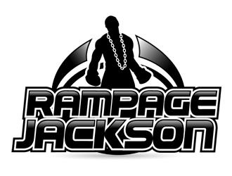 RAMPAGE JACKSON logo design.