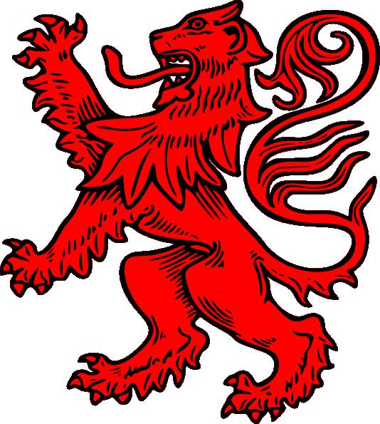 Rampant Lion Clip Art.