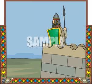 Rampart Castle Clip Art.