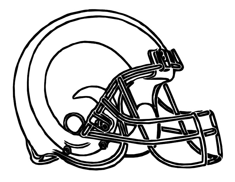 Rams Football Coloring Pages.