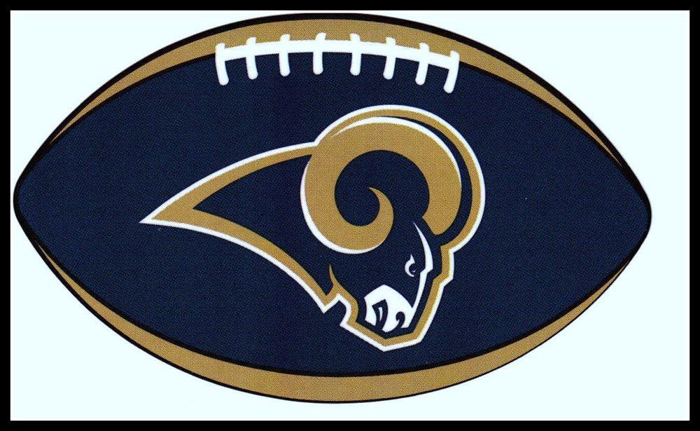 LOS ANGELES LA RAMS OVAL FOOTBALL NFL DECAL STICKER TEAM LOGO~BOGO 25% OFF.