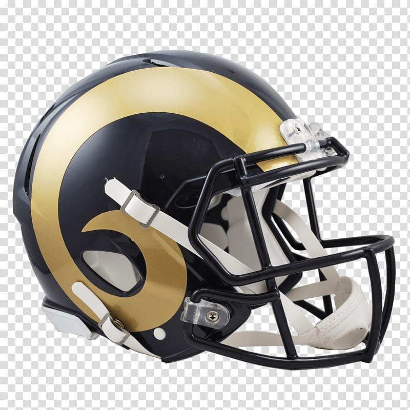 Gold and black football helmet, St Louis Rams Helmet.