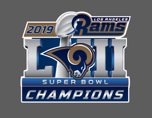 Details about Los Angeles Rams 2019 Super Bowl LIII 53 Champions Wall Decal.