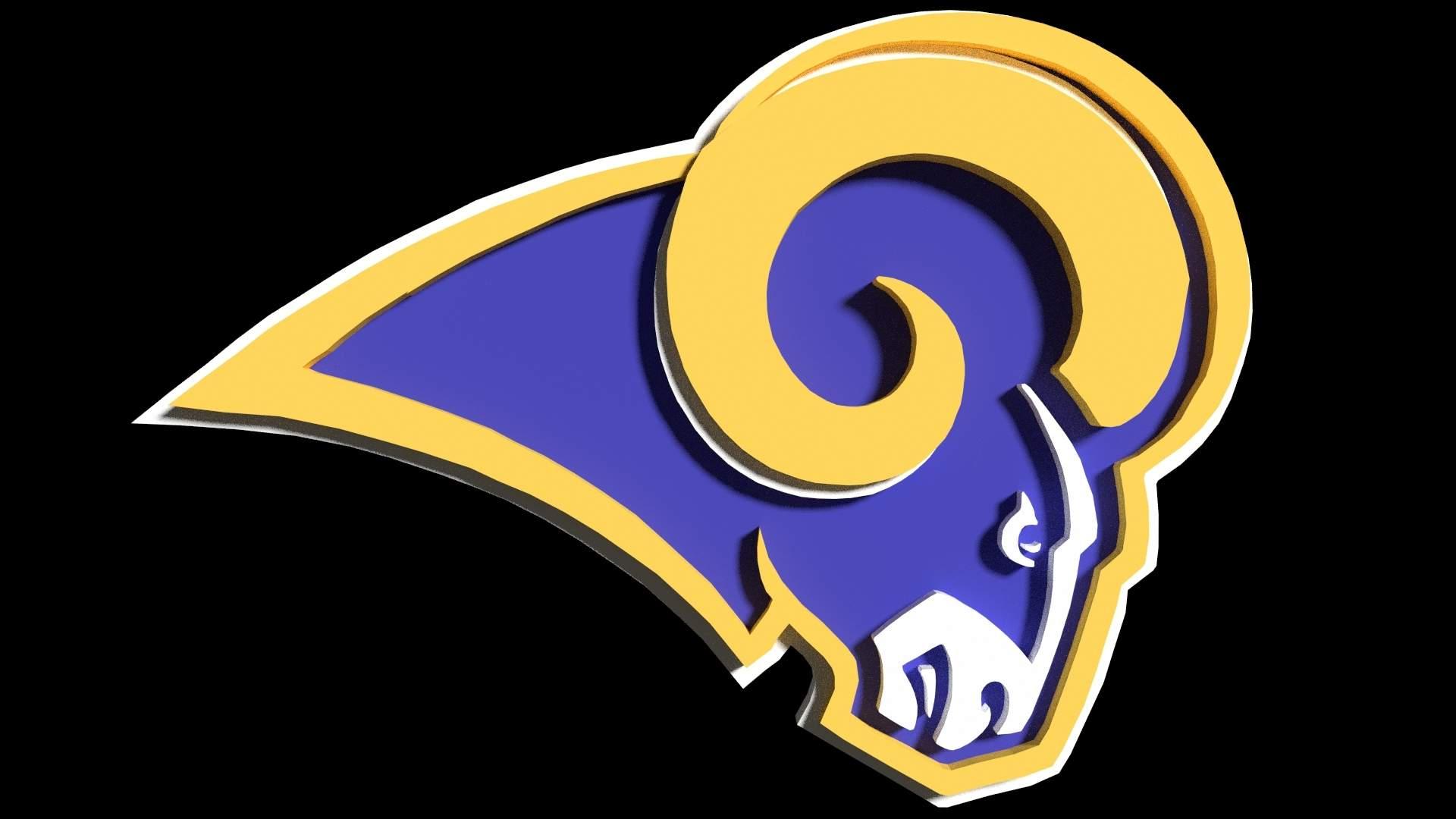 Rams Logo Print Ready 3D Model.
