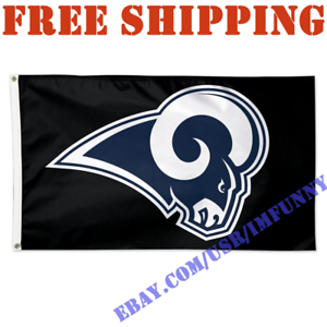 Details about Deluxe Los Angeles Rams Logo Banner Flag BLACK 3x5 ft NFL  2019 Fan Home Decor.