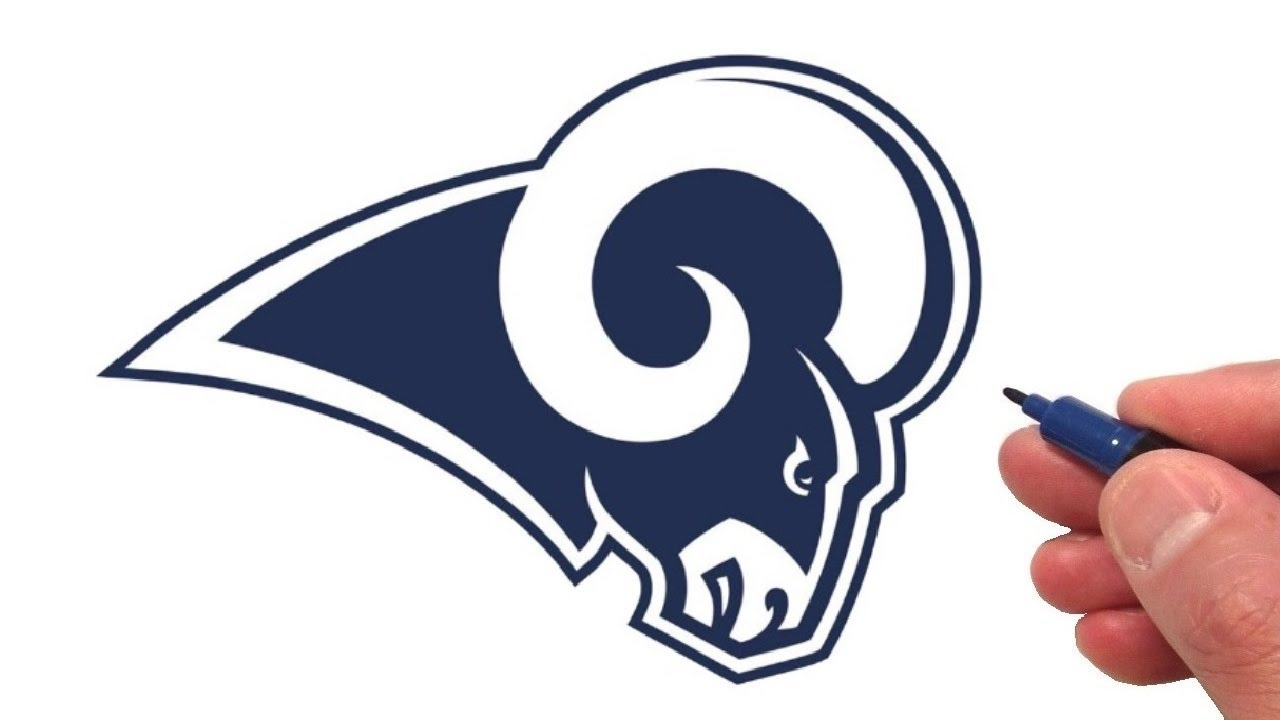 How to Draw the Los Angeles Rams Logo.