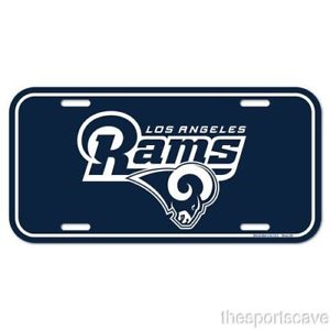 Details about Los Angeles Rams Logo Plastic License Plate NEW Free Ship  6x12 Inches.