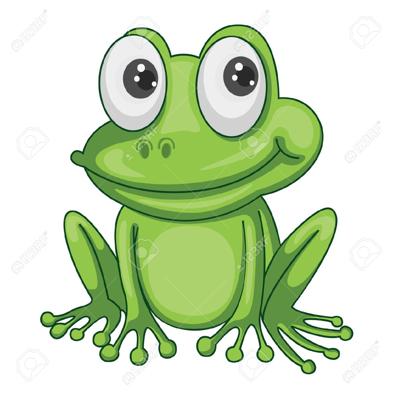 Frog clipart with no background.