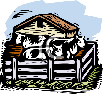 Cattle Ranch Clipart.