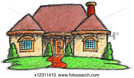Drawing of Yellow Ranch House x12311413.
