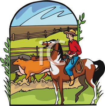 Cowboy Ranch Clipart.
