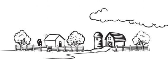 Free Farm Scene Black And White, Download Free Clip Art.