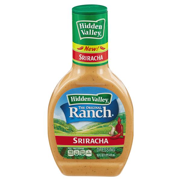 Hidden Valley Ranch Dressing, Sriracha, 16 oz.