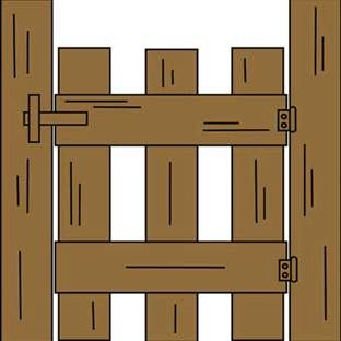Ranch Entrance Gates Clip Art.