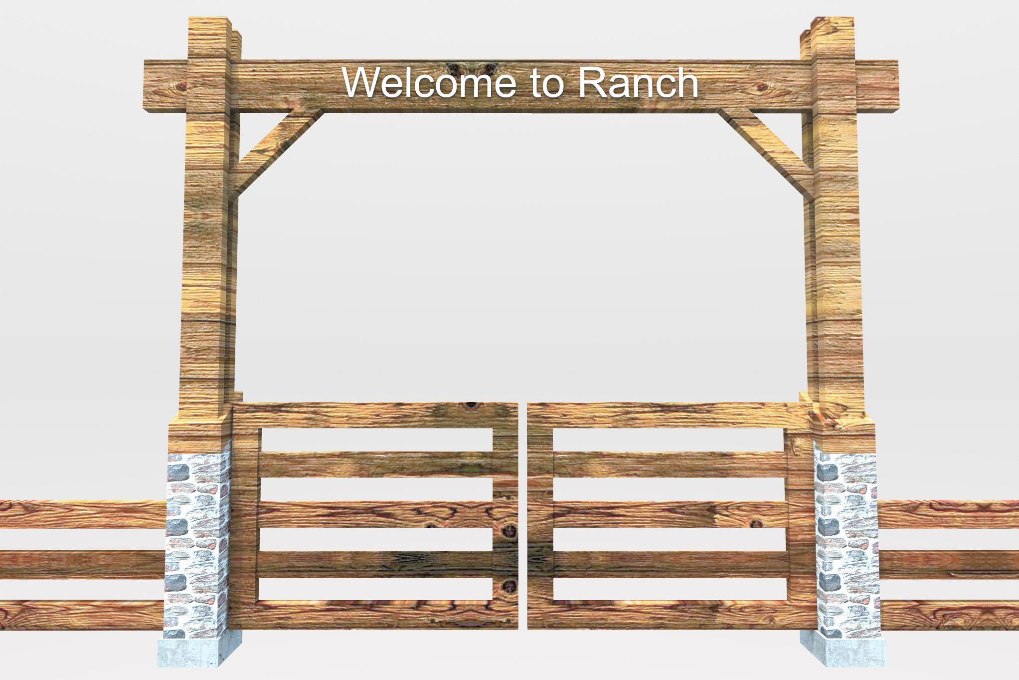 Pix For > Ranch Gate Clipart.
