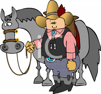 "his horse"" clipart image."