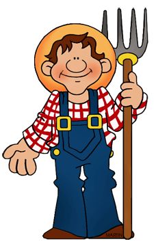 Free Ranching and Farming Clip Art by Phillip Martin.