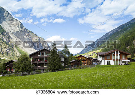 Stock Photo of Randa Village, Switzerland k7336804.